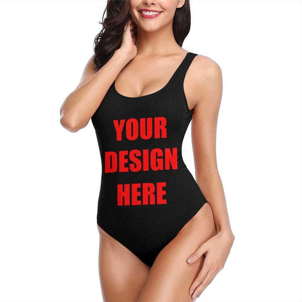 Women Sexy One Piece Swimsuits Image Text 3D Print Swimwear Bathing Suit