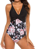 Womens One Piece Sexy Swimming Suit Hollow Out Leopard Print High Waist Swimsuit
