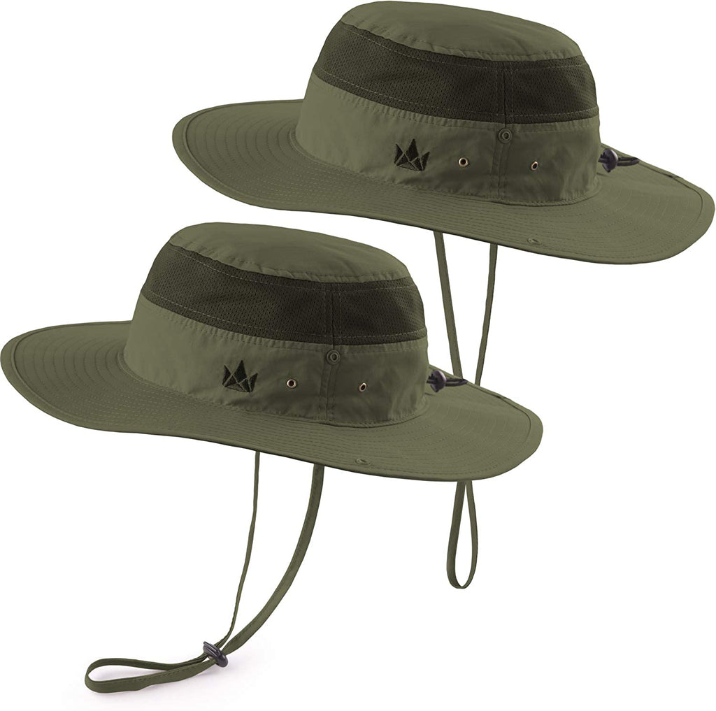 Swede Sun Hat 2-Pack - Fishing Boonie Hat for Safari and Summer