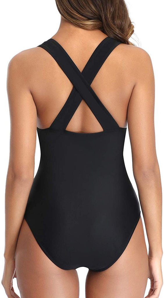Women One Piece Plunge Monokini Sexy Hollow Out Swimsuits Bathing Suit