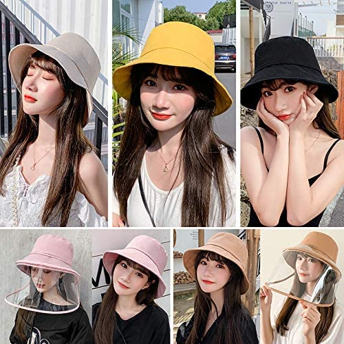 Women Removable Protective Face Shield Anti Splash Sun Hat Fishing Caps