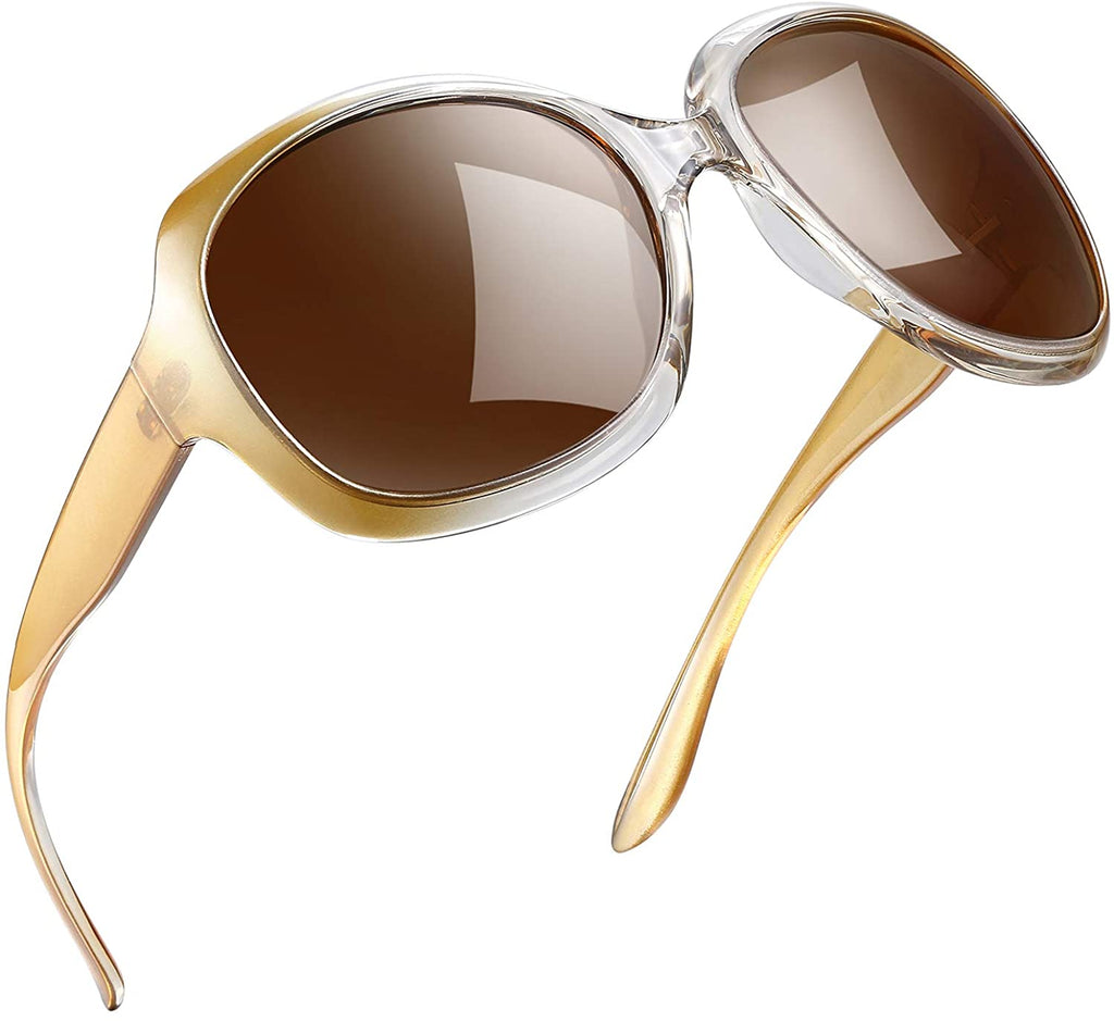 Sunglasses for Women Vintage Big Frame Sun Glasses Ladies Shades