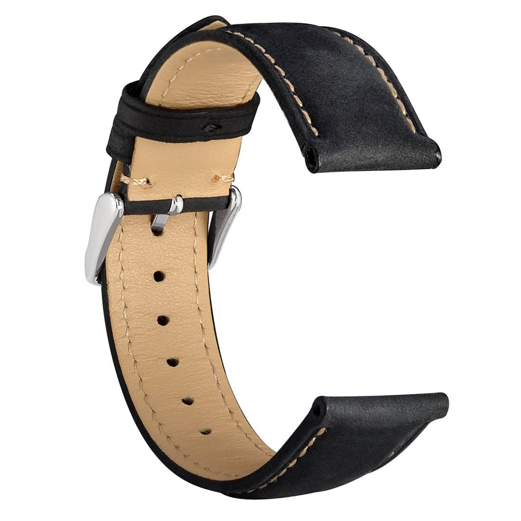 Vintage Leather Watch Strap 14mm 16mm 18mm 19mm 20mm 21mm 22mm 23mm 24mm,Choice of Color and Width