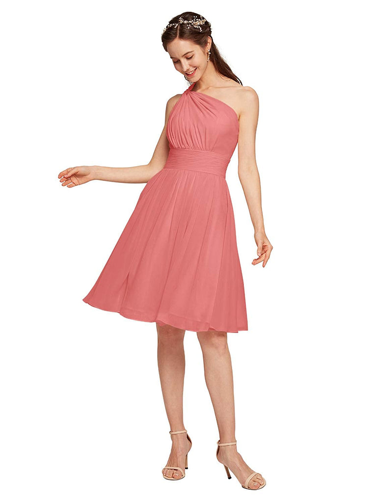 Handmade Chiffon Bridesmaid Dress Short Cocktail Party Homecoming Dresses