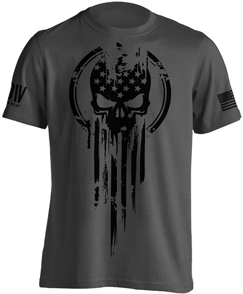Warrior Flag Skull Military T-Shirt