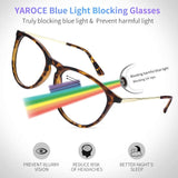 Blue Light Blocking Glasses, Anti Eye Strain Computer Glasses, Vintage Retro Round UV Filter Blue Blocker Glasses