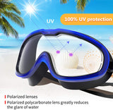 Swimming Goggles, Anti Fog UV Protection Lenses Swim Goggles No Leaking Snorkeling Gear Easy to Adjust for Beginner