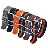 Strap 6 Packs 18mm 20mm 22mm Watch Band Nylon Replacement Watch Straps for Men Women