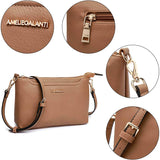 Women Lightweight Purses and Handbags PU Leather Small Shoulder Bag Satchel with Adjustable Strap