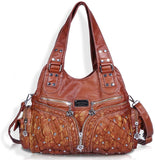 Womens Handbags Ladies Purse Satchel Shoulder Bags Tote Washed Leather Bag