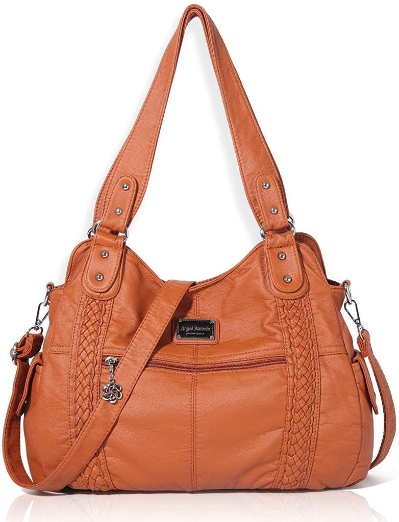 Roomy Fashion Hobo Womens Handbags Ladies Purse Satchel Shoulder Bags Tote Washed Leather Bag