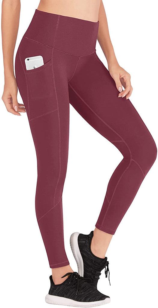 Yoga Pants with Pockets for Women Ultra Soft Leggings with Pockets High Waist Workout Pants