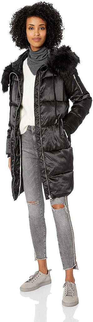 Simpson Women's Fashion Puffer Jacket Zipper closure