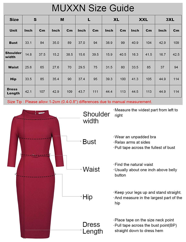 Women's 1950s Vintage 3/4 Sleeve Elegant Collar Cocktail Evening Dress