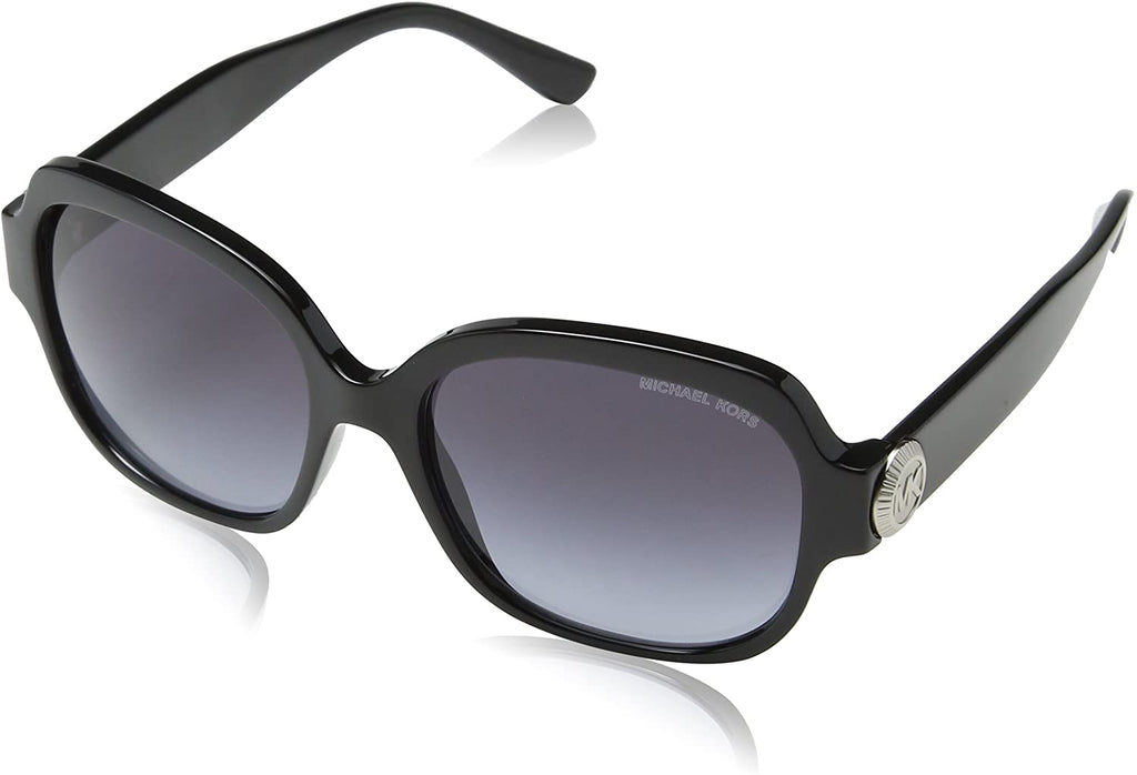 Women's Sunglasses with Plastic Frame (Black/Grey Gradient)