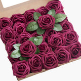 African Violet Purple Roses Real Looking Fake Roses w/Stem for DIY Wedding Bouquets Centerpieces Arrangements Party