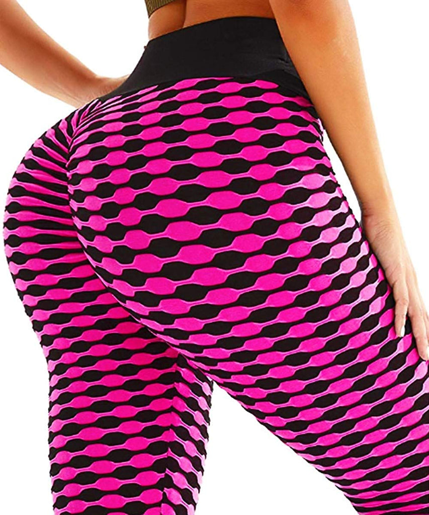 Sexy Women's Booty Yoga Pants Legging Ruched Textured Workout Butt Lift Pants