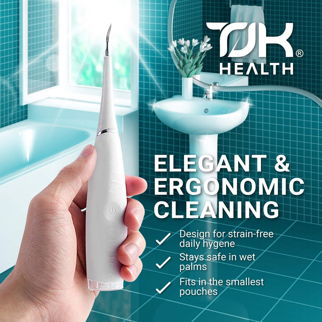Plaque Remover for Teeth - Electric Tooth Cleaner - Best Dental Scaler Cleaning Tool Kit - Safe and Effective Dental Calculus Remover