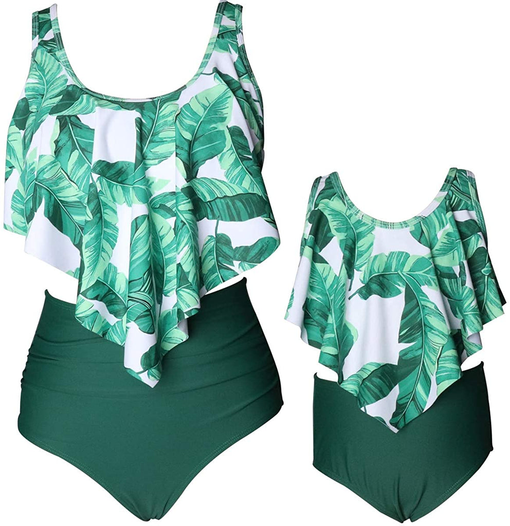 Girls Swimwear Mother and Daughter Swimwear Family Matching Swimsuit