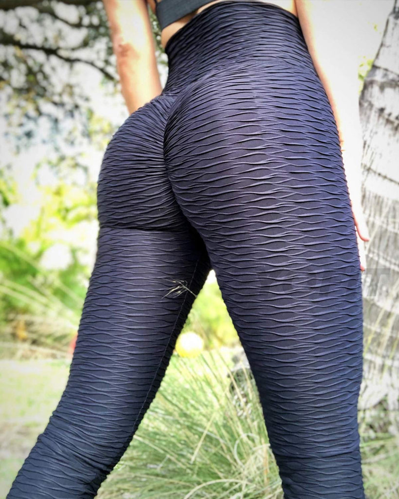 Women Leggings High Waist Tummy Control Tights Ruched Butt Lift Yoga Pants