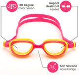 Kids Goggles for Swimming with Fun Car Hard Case for Kids & Toddlers Age 2-8 Years Old