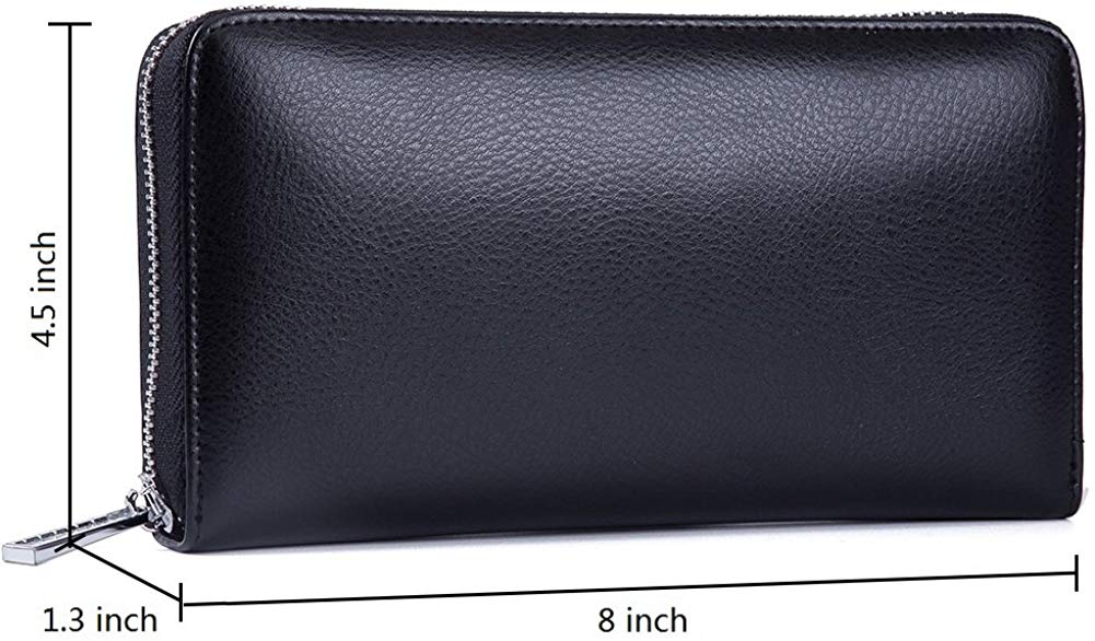 Credit Card Wallet Leather RFID Wallet for Women, Huge Storage Capacity