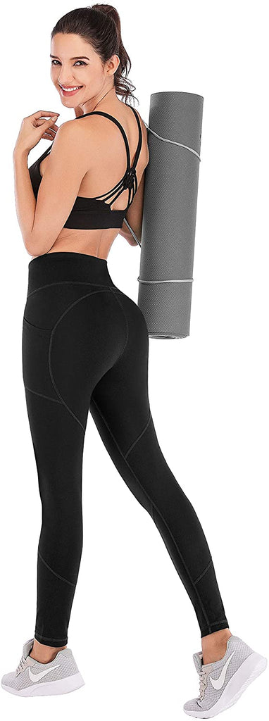 Ultra Soft Leggings with Pockets High Waist Workout Pants Yoga Pants with Pockets for Women