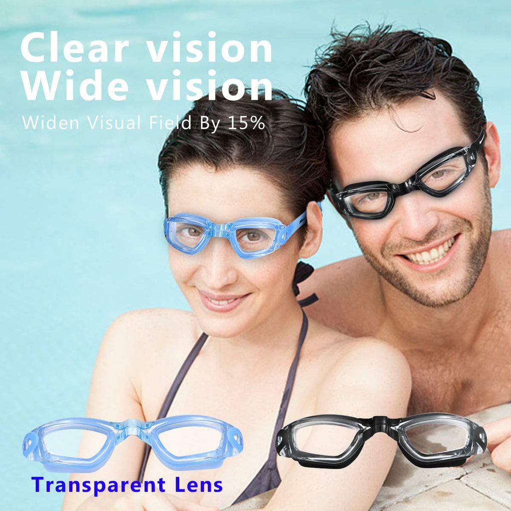Swim Goggles Swimming Goggles, Pack of 2 Professional Anti Fog No Leaking UV Protection Swim Goggles
