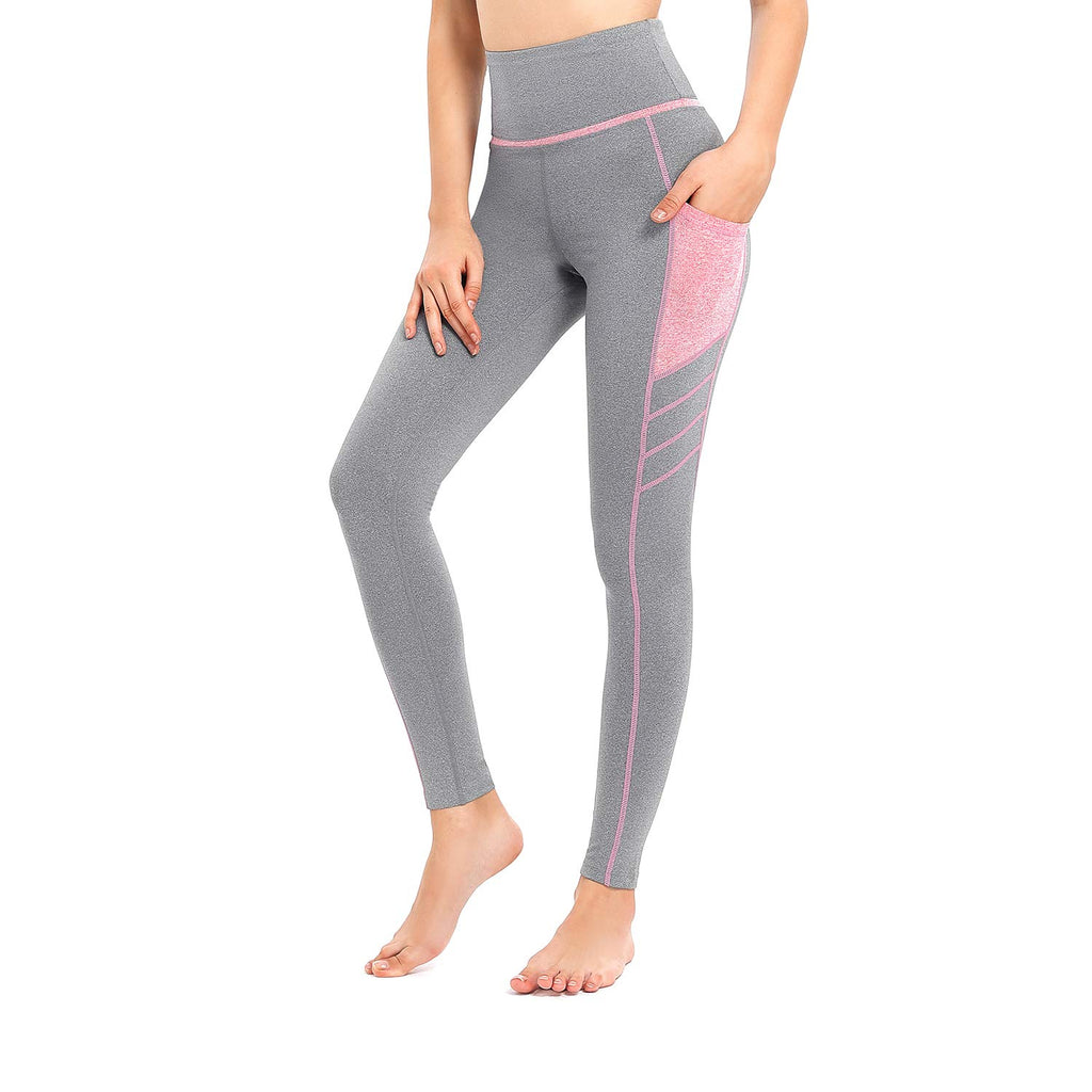 High Waist Yoga Pants with Pockets for Women,Tummy Control,Workout Running Yoga Leggings