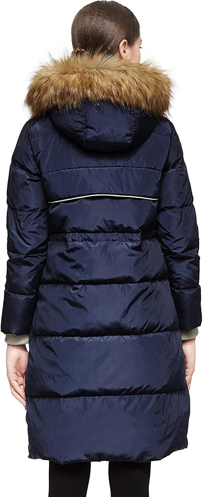 Women's Winter Casual Mid Length Down Coat with Hood