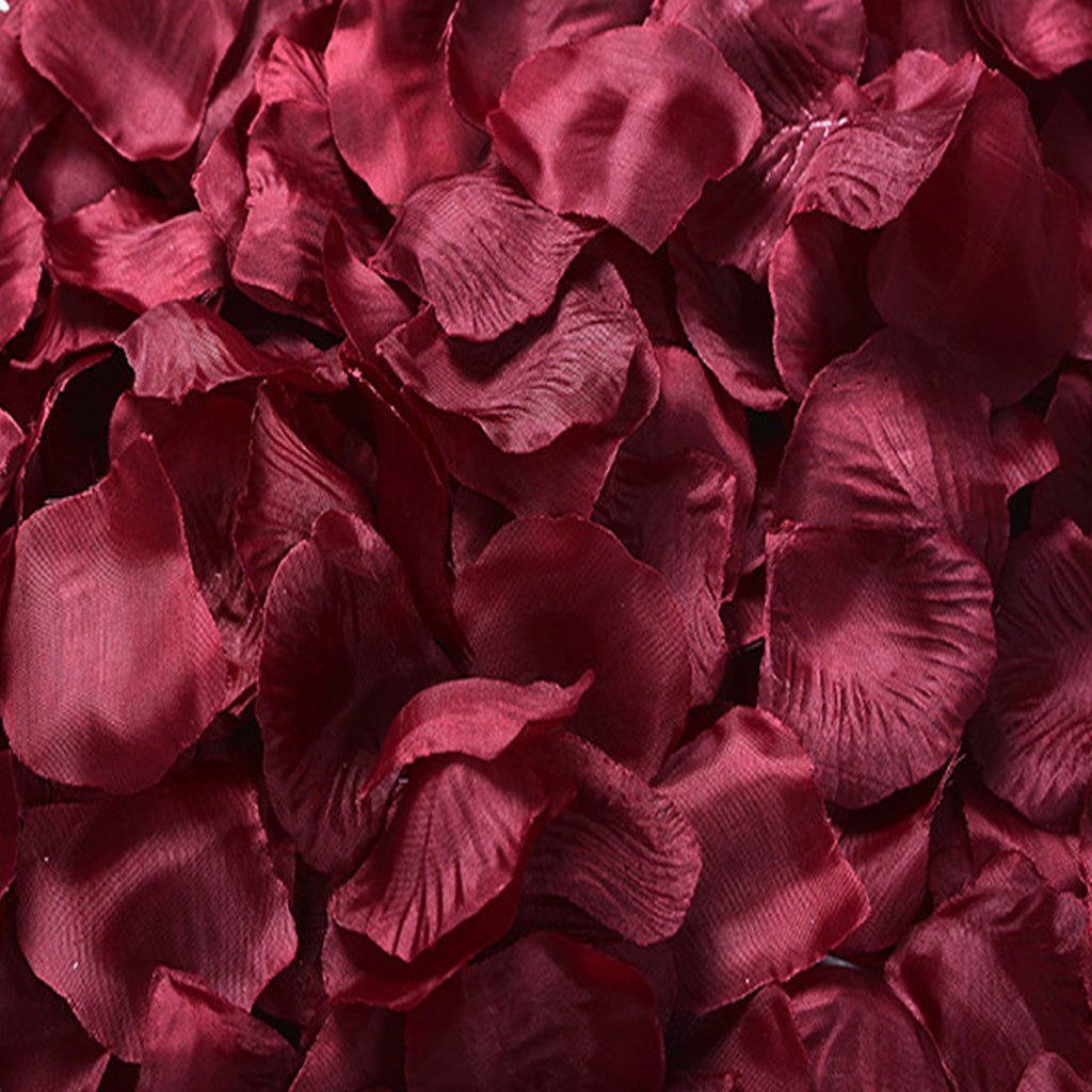 Pack of 1000 Silk Rose Petals, Artificial Flowers for Decoration Wedding Party (Burgundy)