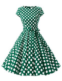 Vintage Dress Women1950s Retro Rockabilly Prom Dresses Cap-Sleeve