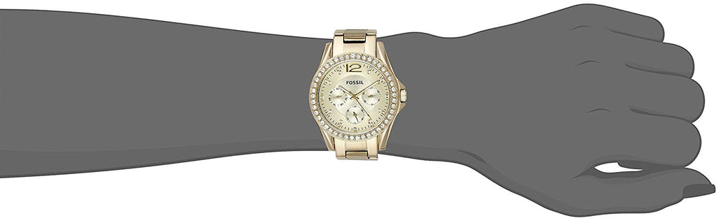 Women's Riley Stainless Steel Multifunction Glitz Quartz Watch