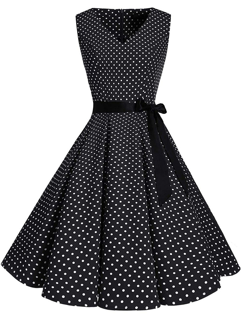 Women's  1950s Vintage Elegant Floral Rockabilly Swing Cocktail Party Dress
