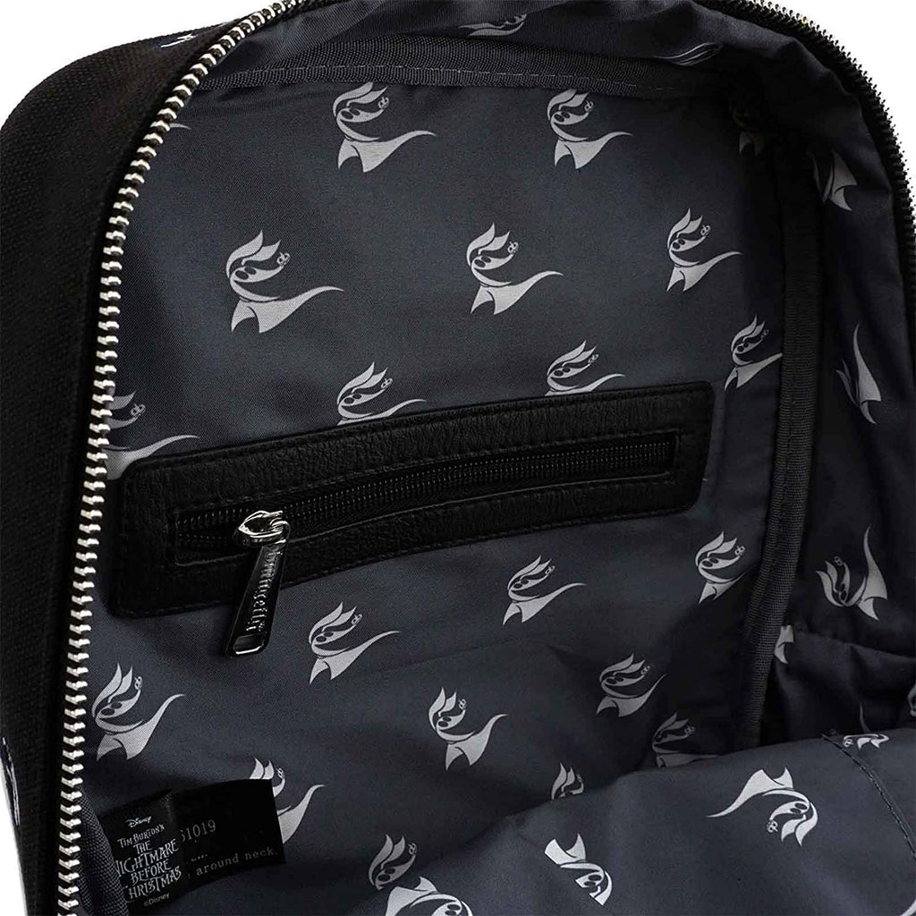 Nightmare Before Christmas Jack Skellington Embroidered Canvas Backpack