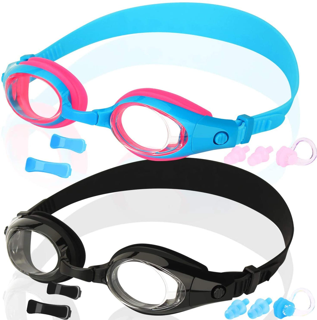 Kids Swim Goggles, Pack of 2, Swimming Goggles for Children Boys Girls Youth and Early Teens