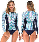 Women Long Sleeve Rash Guard UV Protection Two Piece Swimsuit Tankini Sets Bathing Suit Wetsuit Swimwear Diving Suit