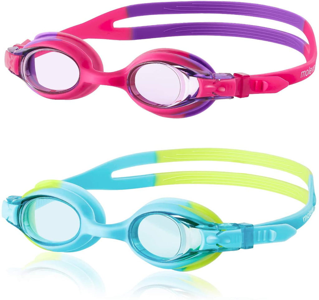 Swimming Goggles, Pack of 2 Swimming Goggle for Kids, Anti-Fog Leakproof Kids Swimming Goggles