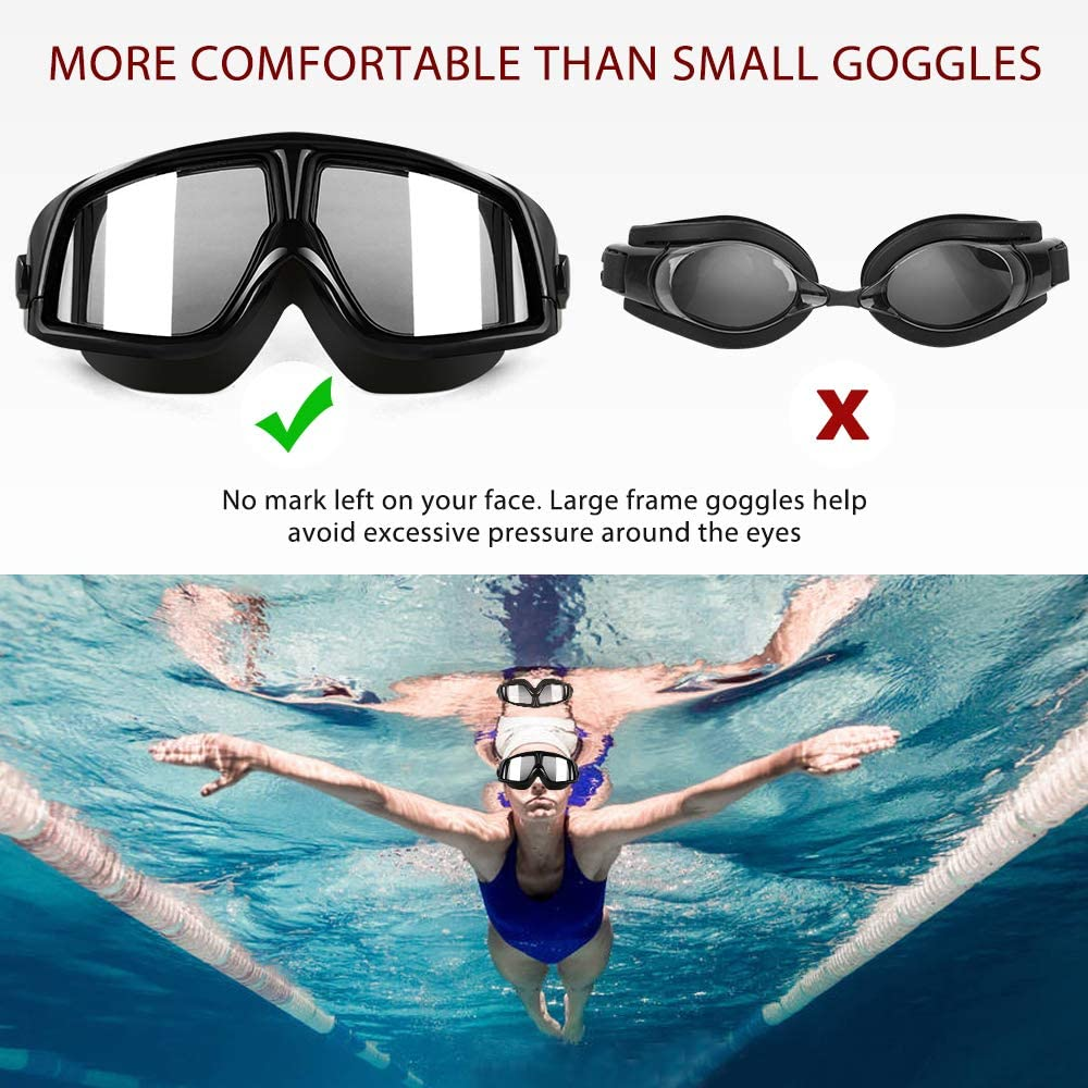 Swimming Goggles - No Leaking Swim Goggles Anti Fog UV Protection Triathlon Swim Glasses for Adult Men Women Youth