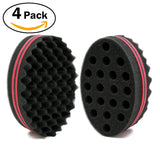 Big Holes Barber Hair Brush Sponge Dreads Locking Twist Afro Curl Coil Wave Hair Care Tool (2 Count)