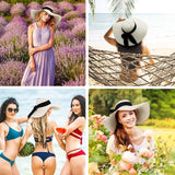 Sun Hats for Women, Floppy Wide Brim Beach Hats with UV UPF 50+ Protection Straw Cap