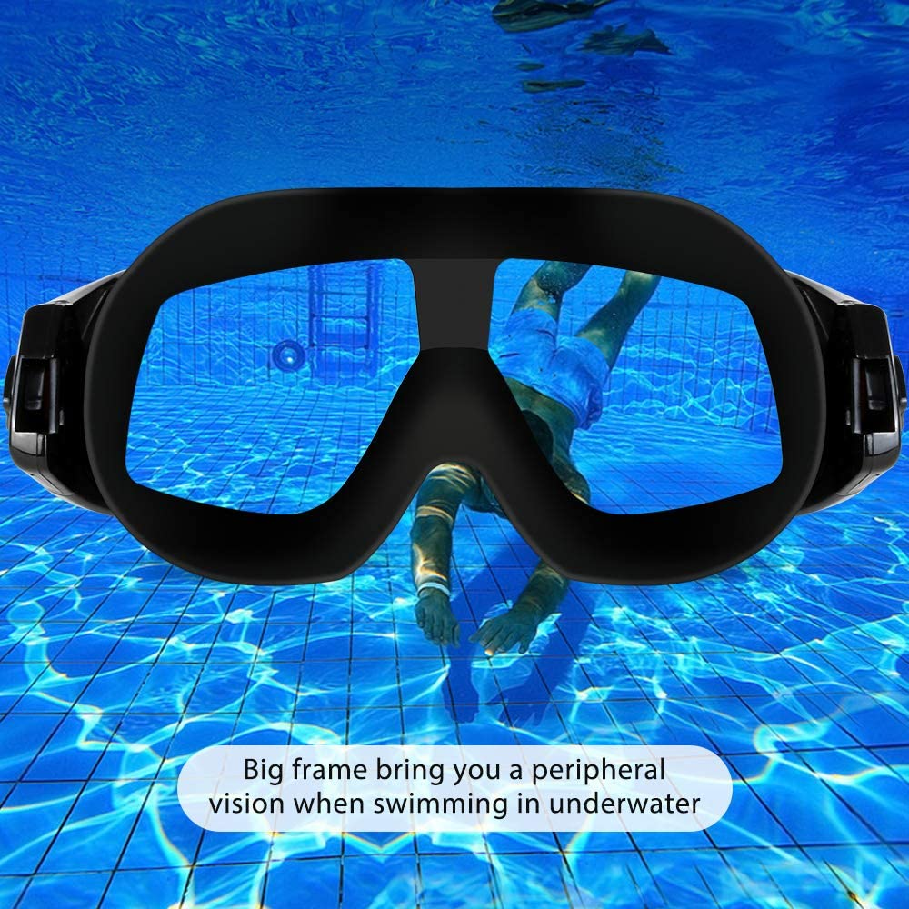 Bestimulus Swimming Goggles with Ear Plugs and Nose Clip No leaking Anti Fog UV Protection for Men Women