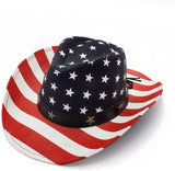 Cowboy Hats, Classic American Flag Summer Sunhat Western Cowboy Hat for Men Boys Kids