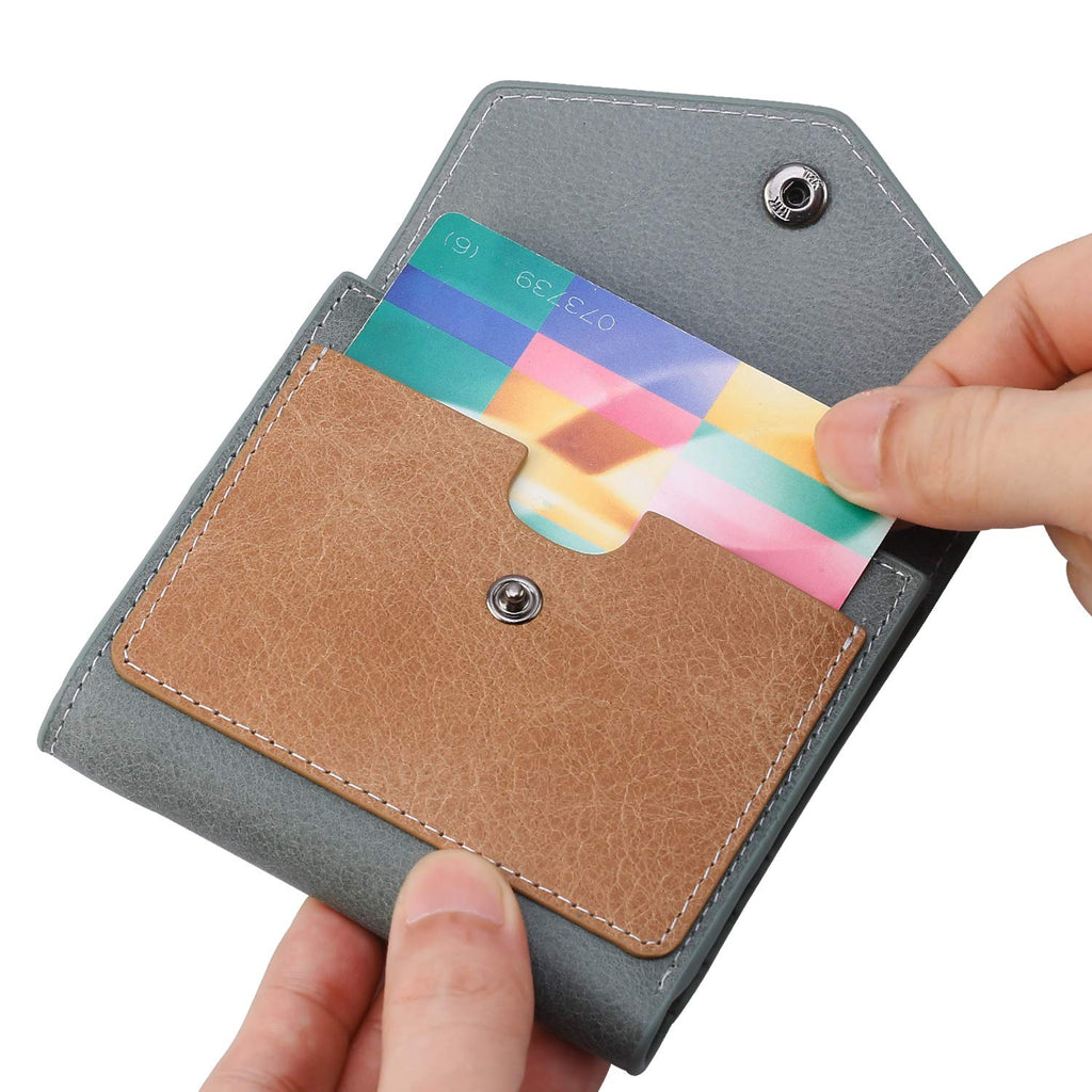 Small Compact Mini Bifold Credit Card Holder Leather Pocket Wallets for Women