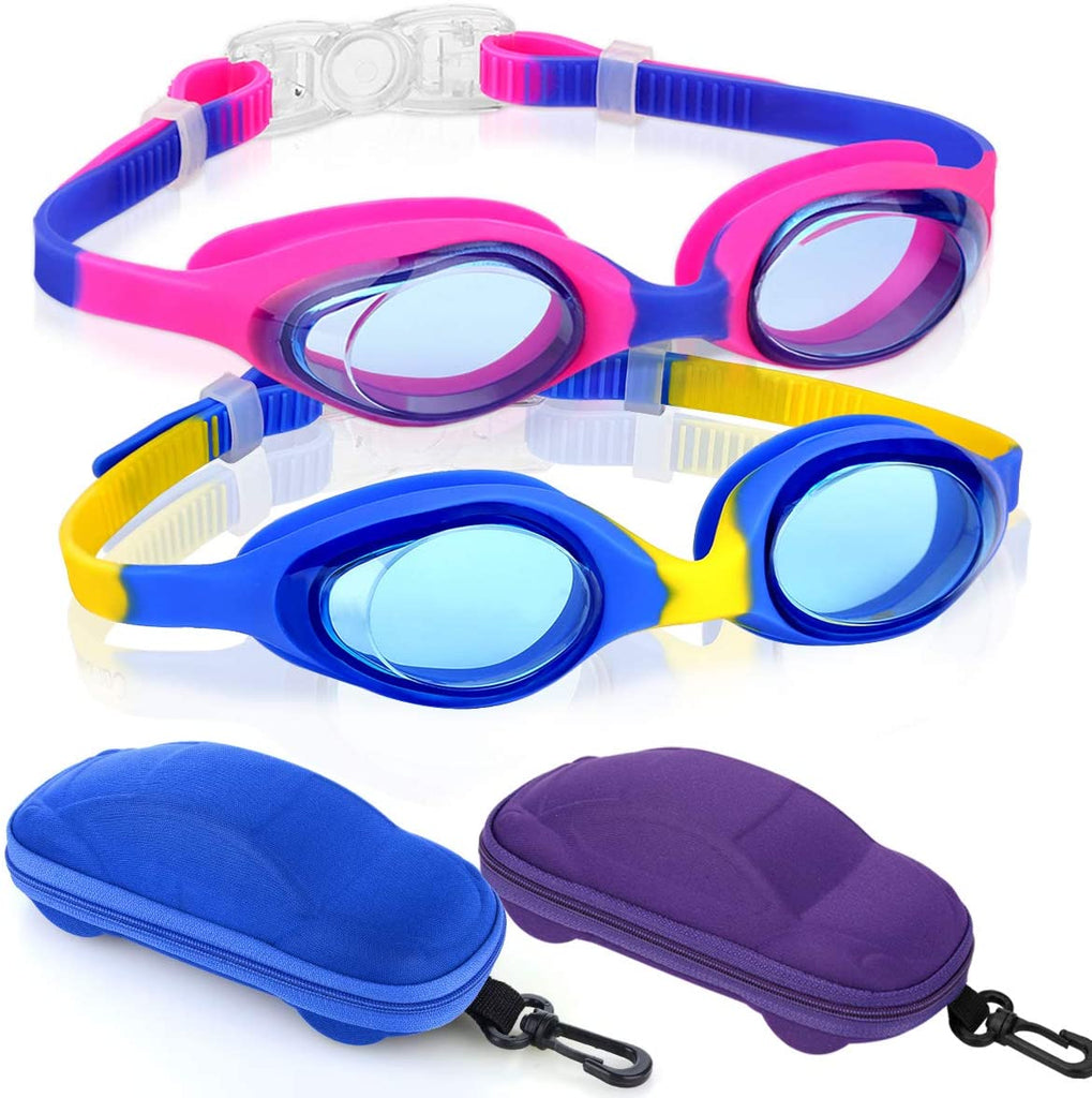 Kids Swimming Goggles, Swim Goggles for Boys Girls Kid Age 3-12 Child Colorful Swim Goggles Clear Vision