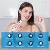 Cordless Water Flosser, Dental Oral Irrigator, 3 Modes Water Dental Flosser Rechargable Portable Oral Irrigator with 4 Jet Tips