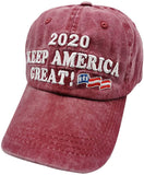 Women's Embroidered Make America Great Again Dad Hat MAGA Distressed Baseball Cap