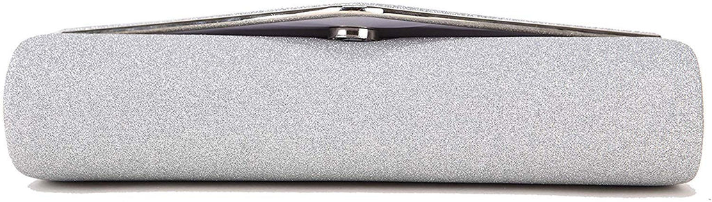 Evening Bag for Women Prom Sparkling Handbag With Detachable Chain for Wedding and Party