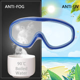 Kids Swim Goggles, Anti-Fog Leak Proof Kids Swimming Goggles, Wide Vision Swim Glasses with Ear Plugs and Nose Clips