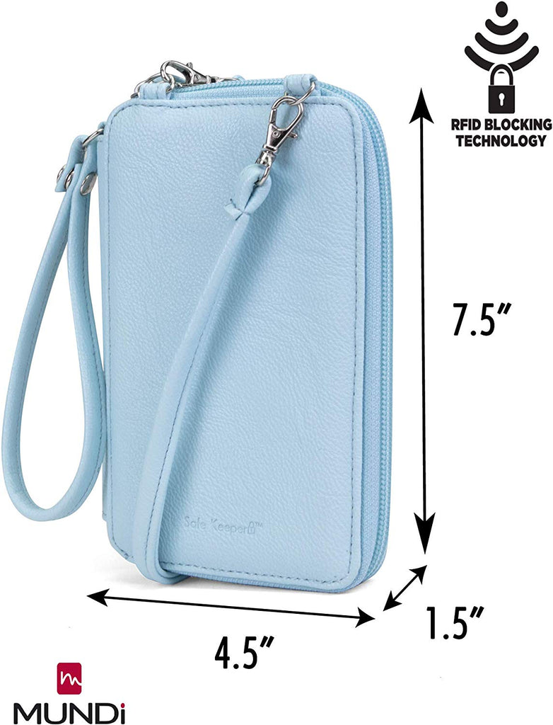 Jacqui Vegan Leather RFID Womens Crossbody Cell Phone Purse Holder Wallet